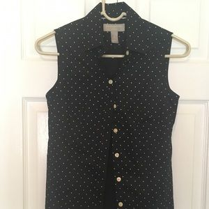 Navy summer blouse by Banana republic